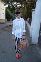 white Forever 21 shirt - orange vagabond shoes