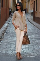 eggshell pants - off white blouse