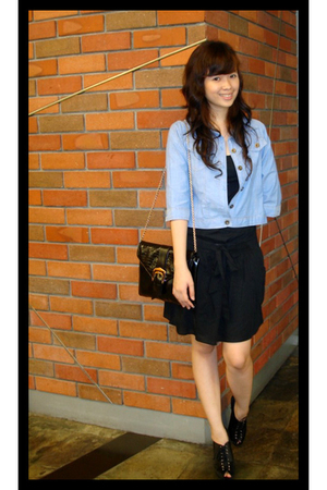 Zara dress - unknown jacket - Charles & Keith purse - Charles & Keith boots
