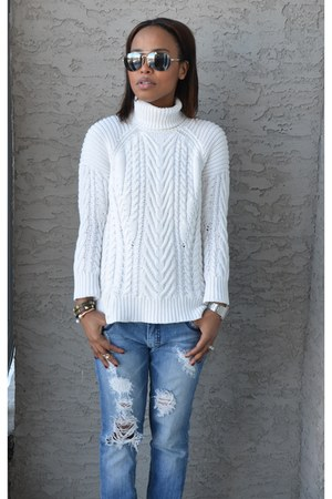 ivory cotton Zara sweater