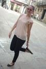 Pink-h-m-blouse-black-pepe-jeans-pants-black-uterqe-flats-silver-pandora-b