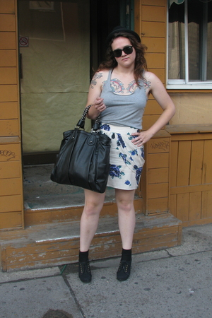 top - Urban Outfitters skirt - Zara purse - H&M shoes - Philistine Vintage hat -