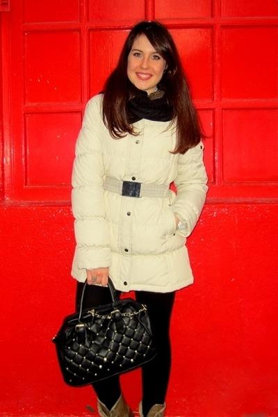 Zara coat - Mustang boots - Primark bag
