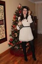 beige Primark dress - black Zara boots - Primark bag - black Primark necklace