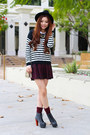 white black and white Charlotte Russe sweater - ivory Jeffrey Campbell shoes