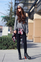 charcoal gray oversized BCBGeneration sweater