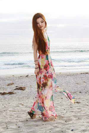 bubble gum floral print asos dress