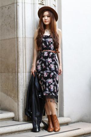 black floral Morphologie dress