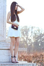 White-skater-charlotte-russe-dress-navy-chain-nordstrom-bag