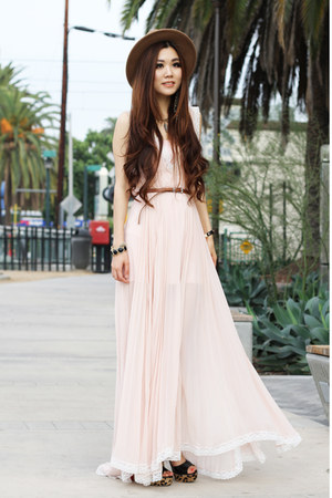 light pink maxi free people dress