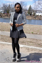 black stripes f21 blazer - heather gray Privileged shoes wedges
