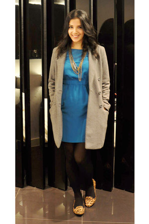Zara dress - H&M coat - new look loafers