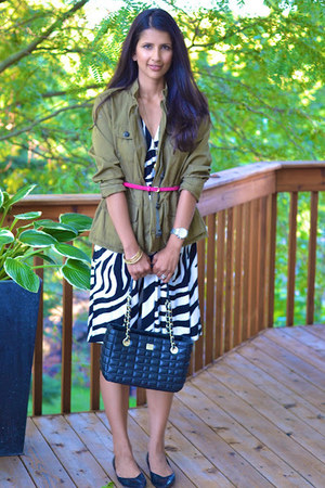 Loft jacket - Loft dress - kate spade bag - sam edelman flats - ann taylor belt