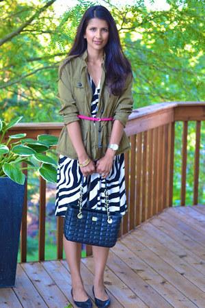 Loft jacket - Loft dress - kate spade bag - sam edelman flats - ann taylor belt