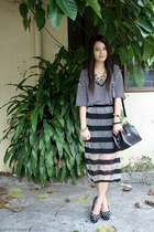 sm accessories necklace - Primadonna bag - WAGW skirt - Forever 21 heels