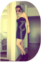 Tally Weijl dress - Jeffrey Campbell shoes - H&M sunglasses