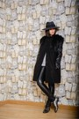 Dark-gray-dacota-design-coat-black-asos-hat