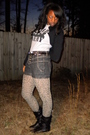 Black-hot-topic-jacket-gray-hot-topic-t-shirt-gray-silence-noise-shorts-b