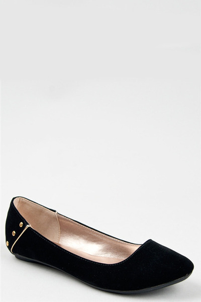 black stud Qupid flats