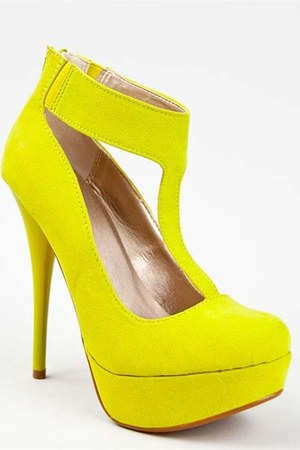 yellow Qupid pumps