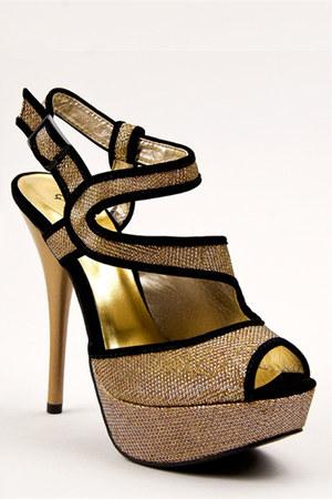 gold Qupid sandals