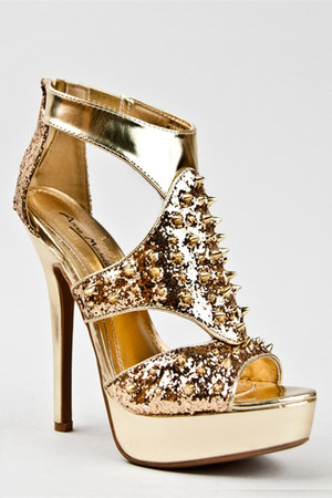 gold Anne Michelle sandals