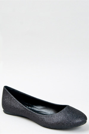 black glitter basic Soda flats