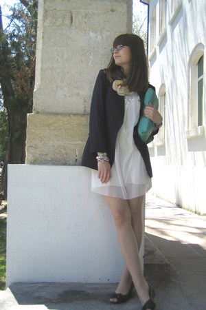Zara blazer - DIY bag - asos bracelet