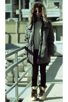 8seconds jacket - leather Englox boots - H&M sweater - Zara leggings