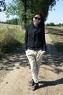 Black-blazer-black-retro-sunglasses-black-top-cream-pants