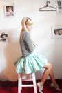 Beige-santa-lolla-shoes-aquamarine-laysa-rosa-skirt-white-zara-top