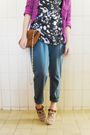Black-maria-fil-top-purple-marisa-cardigan-green-gregory-pants-beige-debor