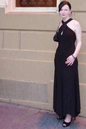 black unknown brand dress - blue Rockmans bracelet - black Hey Lillian shoes - b