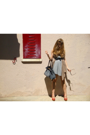 fridays proyect dress - Mango HE scarf - vintage belt - hazel purse - Zara shoes