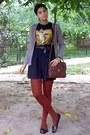 Navy-shirt-burnt-orange-tights-dark-brown-satchel-zara-purse