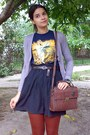 Navy-shirt-burnt-orange-tights-dark-brown-satchel-zara-purse