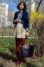 Navy-mbg-blazer-brick-red-tights-black-longchamp-bag