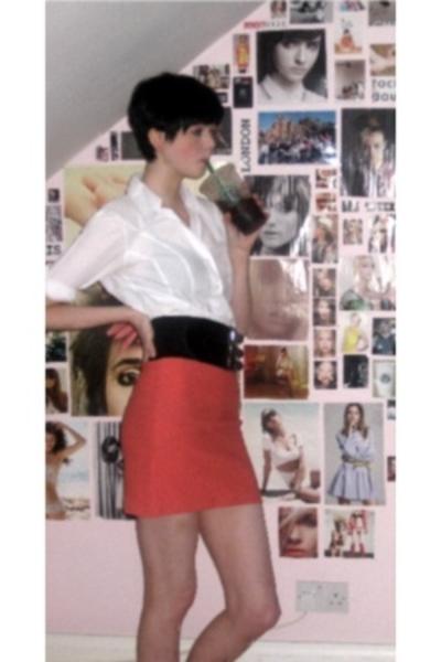 shirt - vintage skirt - factory outlet belt