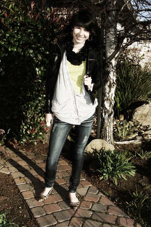 brown Forever 21 accessories - yellow Forever 21 shirt - gray Forever 21 vest -