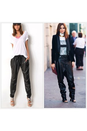 black supee pants - white supre t-shirt