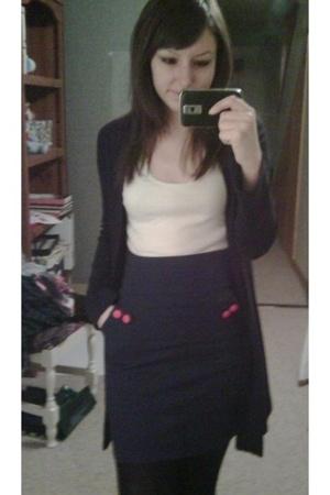 H&M shirt - H&M skirt - Suzy Shier sweater - tights