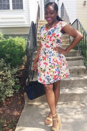 Forever 21 purse - Betsey Johnson dress - Forever 21 wedges
