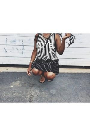 honeycomb hideout shirt - Forever 21 skirt
