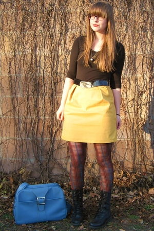 Forever 21 shirt - Amanda Christine skirt - Urban Outfitters tights - vintage be