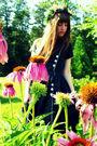 Black-vintage-dress-pink-diy-accessories-pink-vintage-salvatore-ferragamo-so