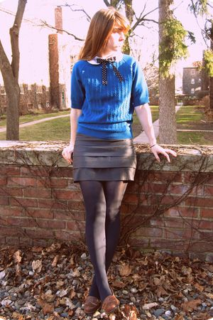 blue Target stockings - brown Urban Outfitters shoes - gray Forever 21 skirt - w