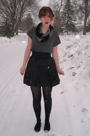 black Aqua skirt - gray Urban Outfitters shirt - black Target tights - black Urb
