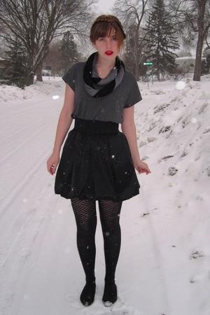 black Aqua skirt - gray Urban Outfitters shirt - black Target tights - black Urb