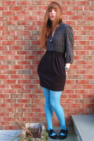 blue Target tights - black Urban Outfitters shoes - black Urban Outfitters dress