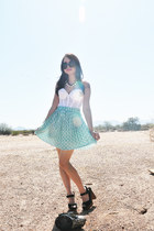 vintage top - round sunnies Ebay sunglasses - Bonne Chance Collections skirt